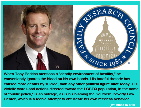 Tony Perkins is the President of the anti-gay hate group FRC