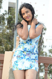 Actress Priyankha Stills in Floral Short Dress at Golmal Gullu Movie Pressmeet 0249.JPG