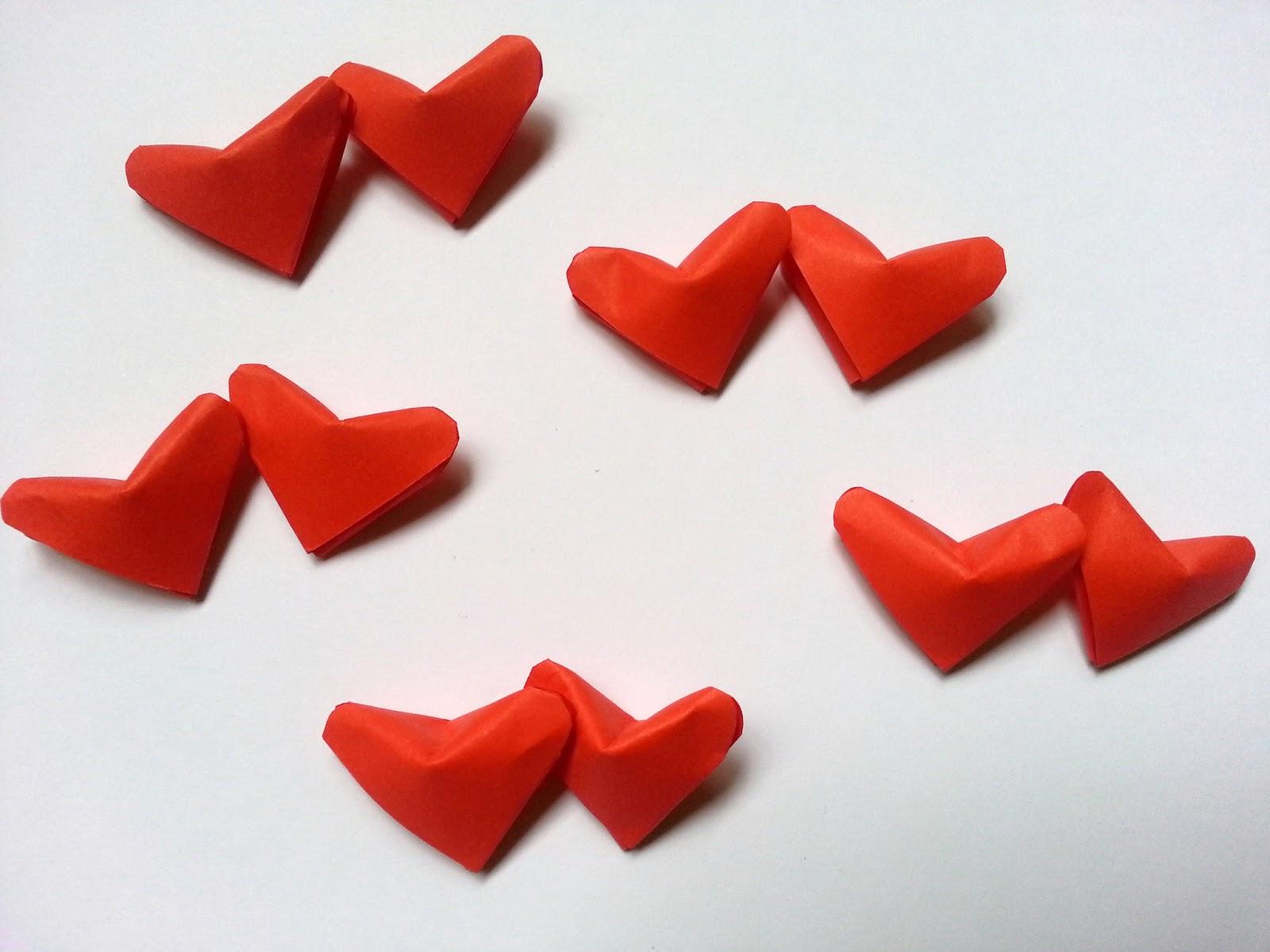 3D Origami Lucky Hearts - photo#5
