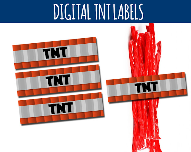 Free Minecraft Printable TNT Labels