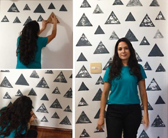 parede, estampa geométrica, parede geométrica, pintar parede, faça você mesmo, diy, decor, home decor, parede pintada, papel de parede