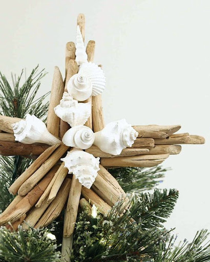 DIY Driftwood Shell Tree Topper by Martha Stewart