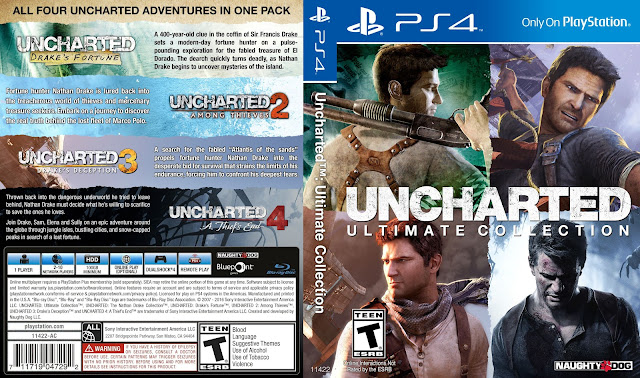 Capa Uncharted Ultimate Collection PS4
