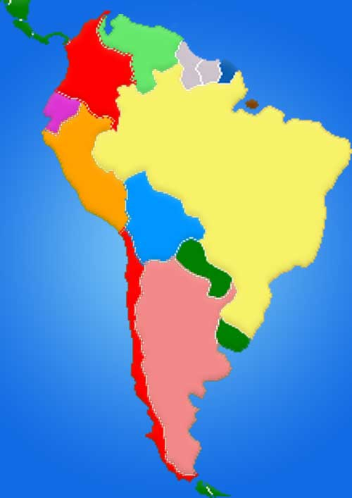 image: South America Map Blank Color