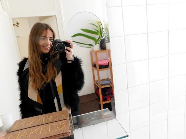 Parisian stay selfie in big bathroom mirror Paris