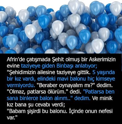 afrin, suriye, türk, türk askeri, şehit, şehit çocuğu, duygusal, balon, mavi balon, baloncuklar
