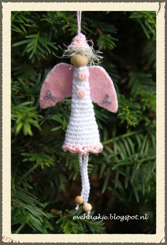 Haken En Kralen Engel Voor In De Kerstboom Angel Christmas Tree
