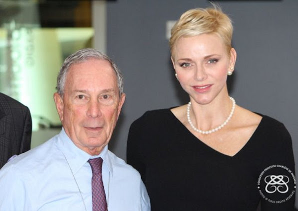 Princess Charlene wore Roland Mouret Dagnall Dress