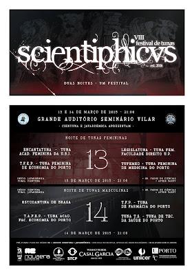 Em 2015, o magnífico festival Scientiphicvs está de volta numa edição, desta vez realizado no Grande Auditório do Seminário de Vilar que fez juz à edição anterior e juntou varios momentos que a tornou ainda mais memoravel.