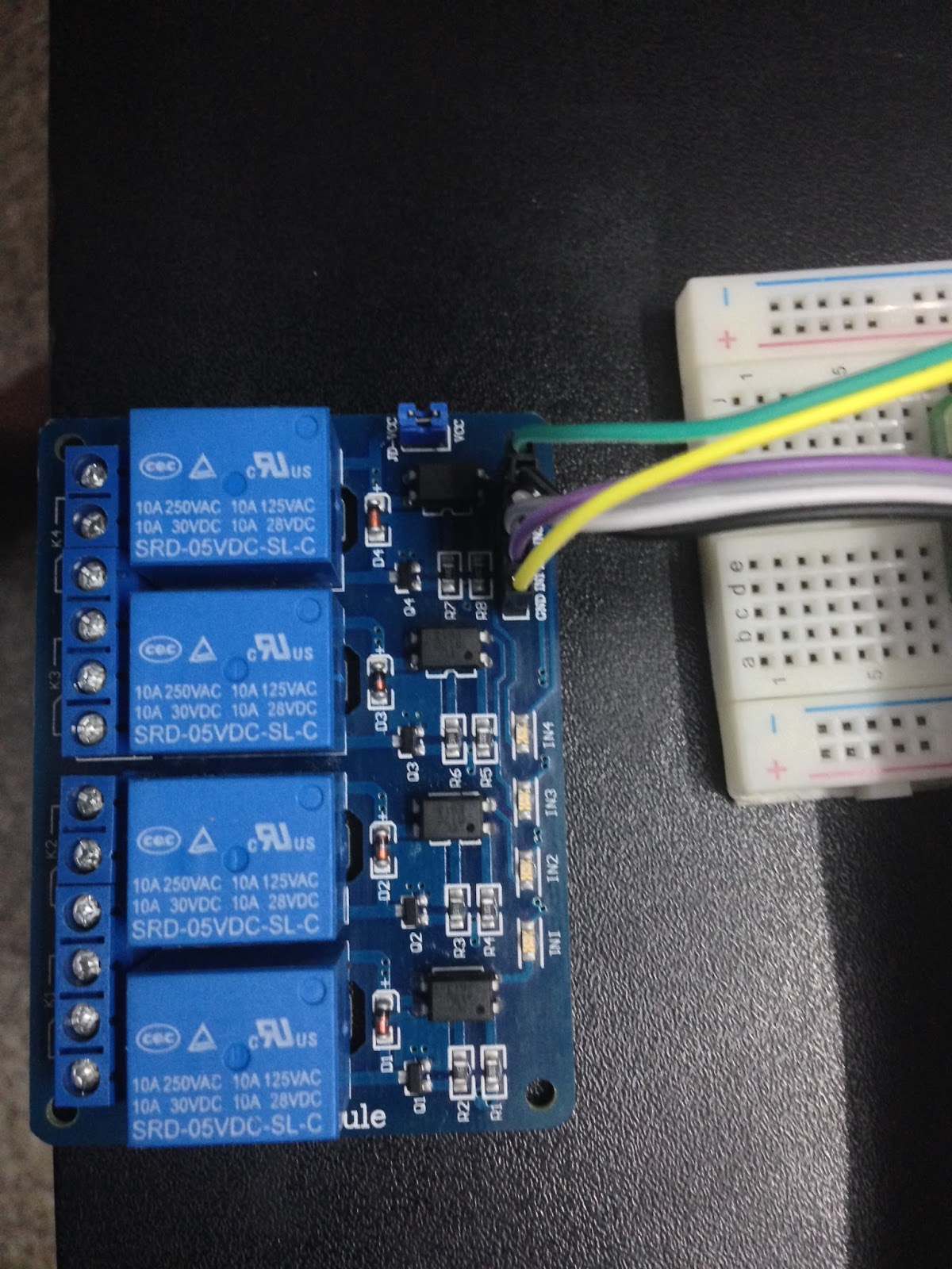 Iot Java Raspberry Pi Pi4j 4 Channel Relay Agilerules Blog Toggle Circuit Electronic Directory 2 Once The Above Connection Is Complete Power On Now Connect To Using Putty With Your Credentials And