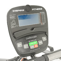 Inspire Fitness Cardio Strider CS3 monitor with blue backlit LCD screen, image
