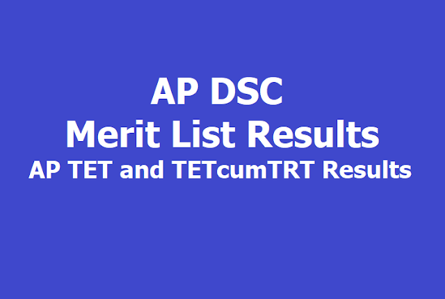 AP DSC Merit List Results 2019, How to Download?