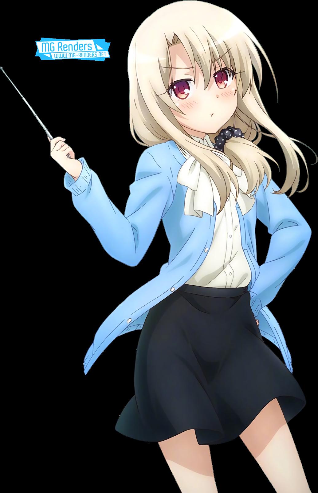 Tags: Anime, Render,  Ellen Baker,  Fate kaleid liner Prisma Illya,  Illyasviel von Einzbern,  Loli,  Side tail,  Skirt,  PNG, Image, Picture