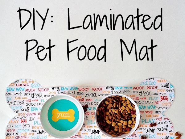 DIY: Laminated Pet Food Mat