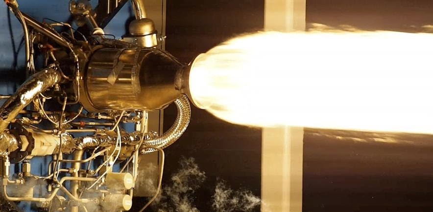 Virgin Galactic Successfully Test Fires New Liquid Rocket Engines for Launcherone. Credit: Virgin Galactic
