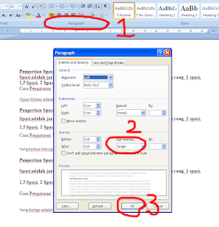 Pengaturan Spasi MS Word