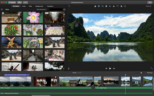 Aplikai Edit Video iMovie