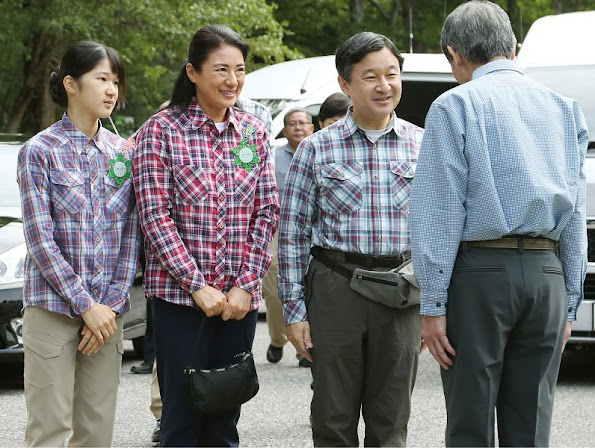 Crown Prince Naruhito, Crown Princess Masako, Princess Aiko in Matsumoto, Nagano Prefecture for Yama-no-hi - Mountain Day
