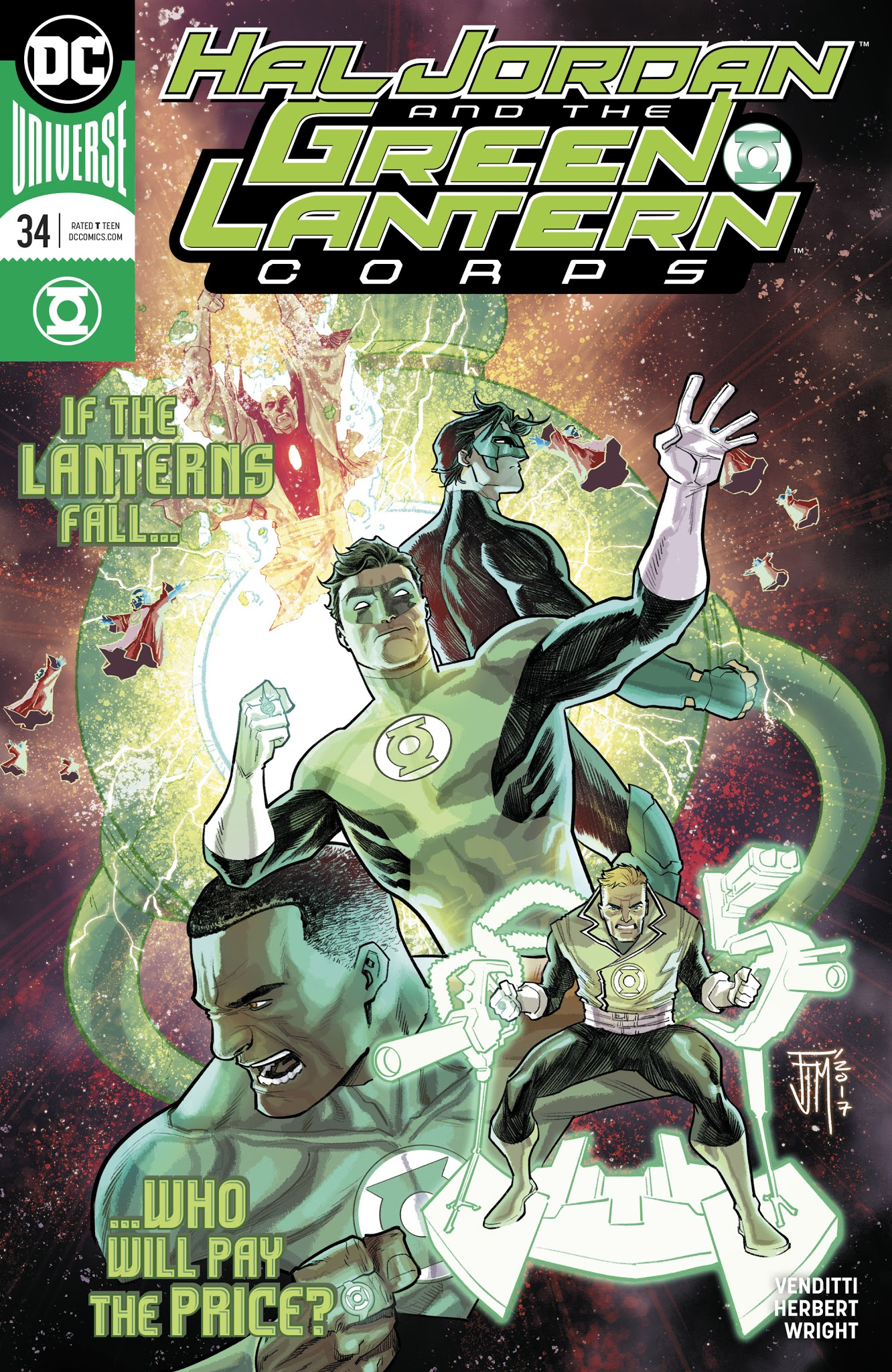 Hal Jordan And The Green Lantern Corps 34 Page 1