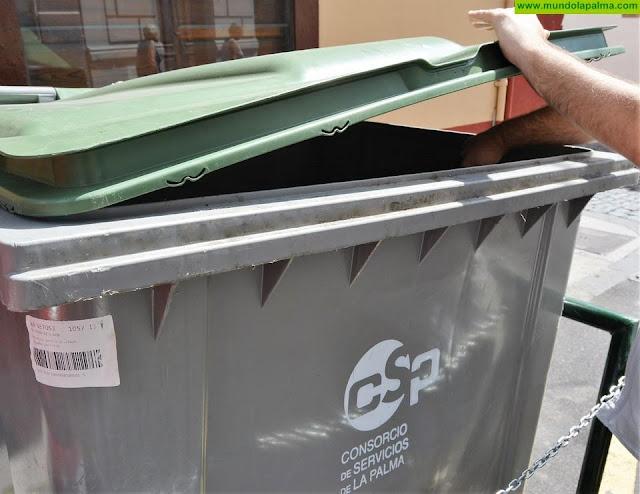 Los residuos depositados en el contenedor gris descienden un 12,5% en abril respecto a 2019