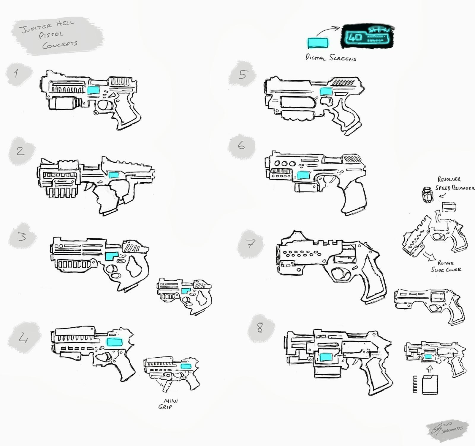 Jupiter Hell - Pistol concepts