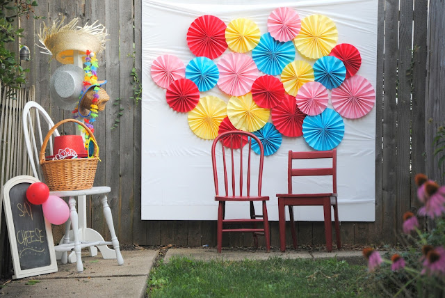 Colorful and Creative Paper Fan Backdrop | DIY Photo Booth Ideas For Your Next Shindig