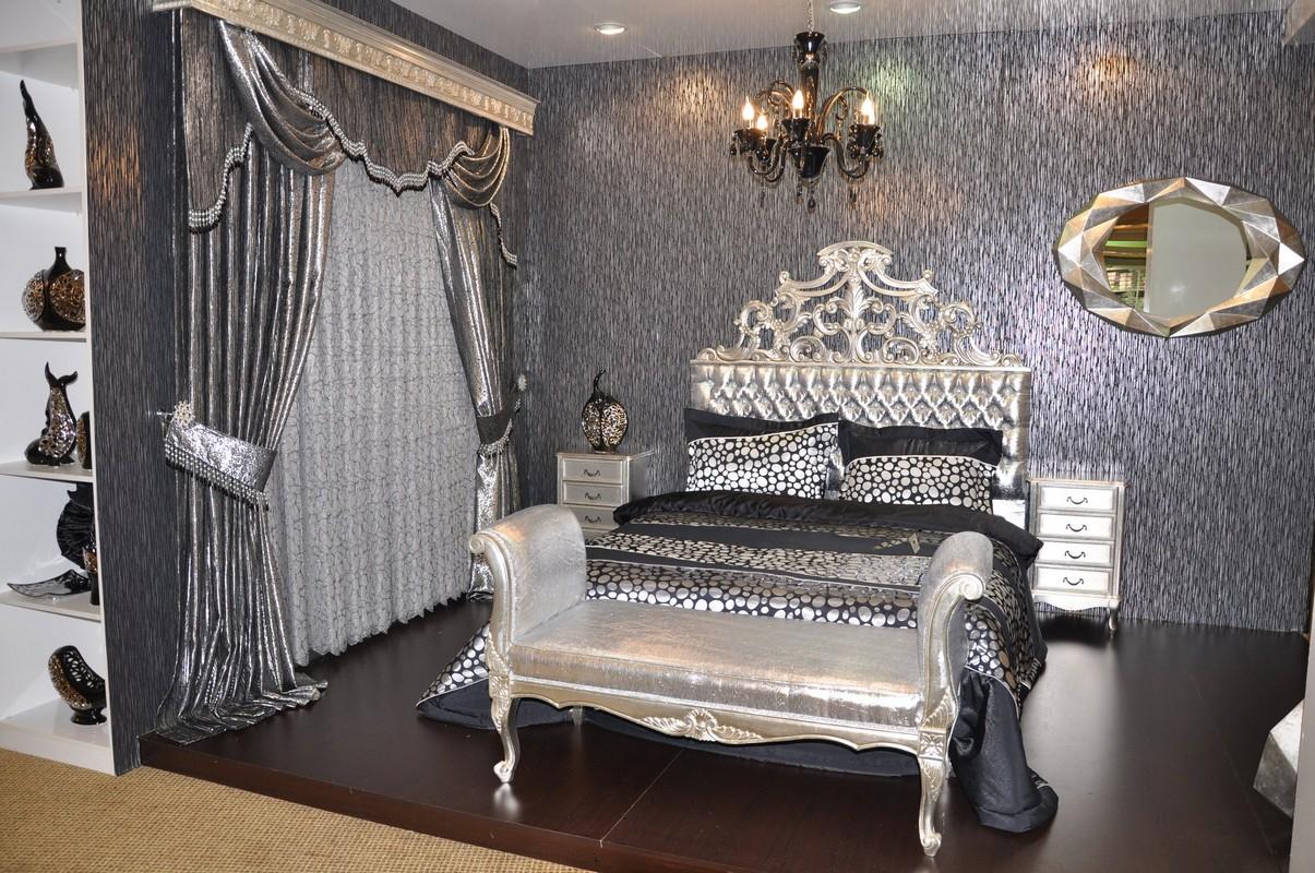Kahverengi Yatak Odasında Perde Seçimi