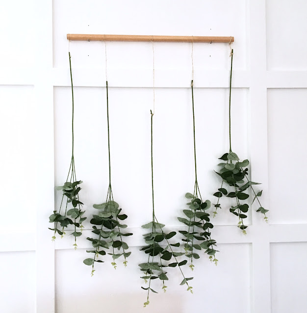 DIY Eucalyptus Wall Hanging Harlow and Thistle 1