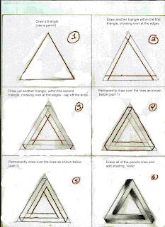 3d triangle step by step