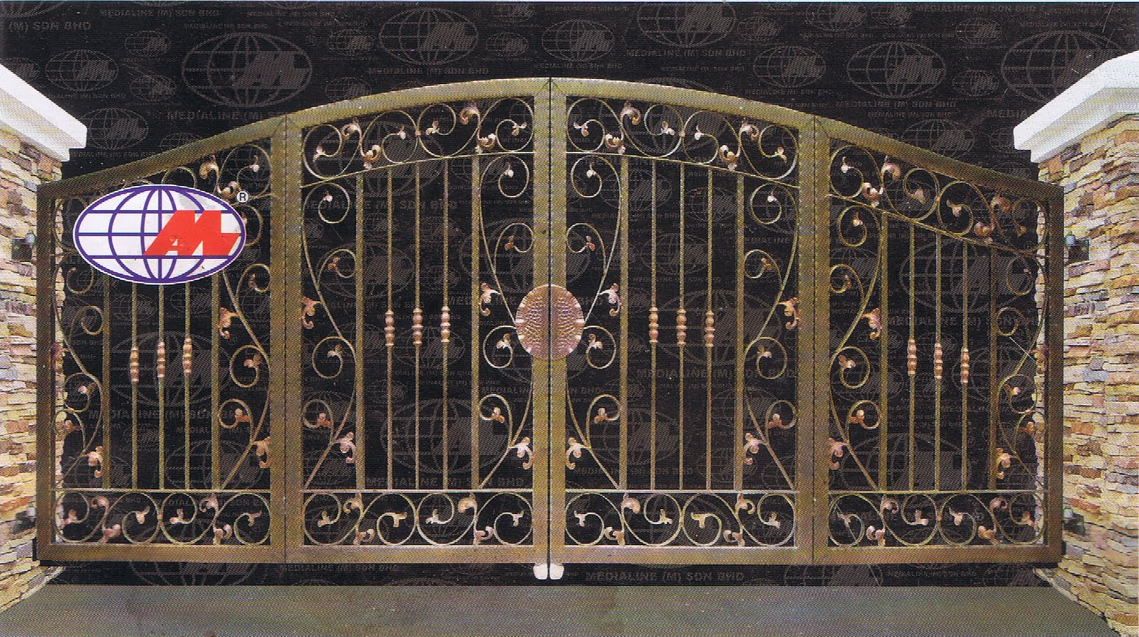 MAN JAYA ENGINEERING: LATEST DESIGN FOR IRON AND WOOD GATE on Iron Get Design  id=68780