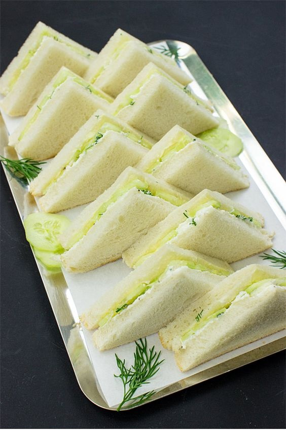 High Society Cucumber Sandwiches With Cream Cheese