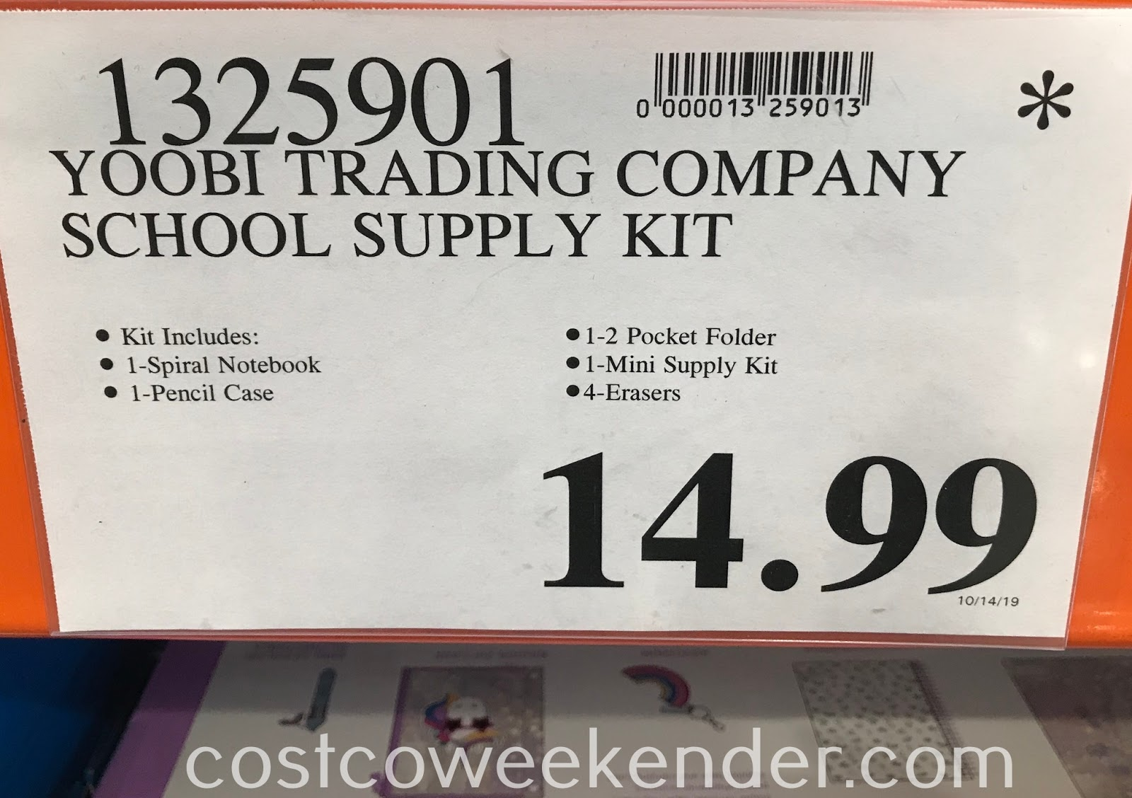 Deal for the Yoobi School Supply Kit at Costco