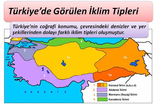 Türkiye de Görülen İklim Tipleri Nelerdir? İklimleri Etkileyen Faktörler?