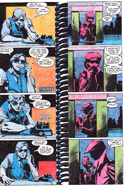 Daredevil v1 #184 marvel comic book page art by Frank Miller