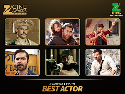 Zee Cinema Awards 2016:  Best Actor Male Nomination With Photo