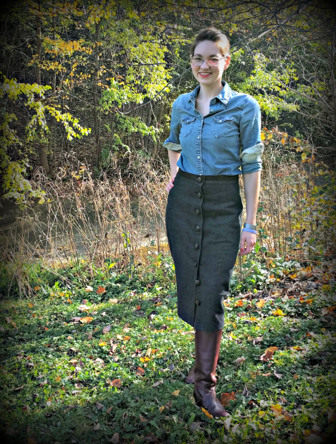 Erin, a button-front pencil skirt from Sew Over It.