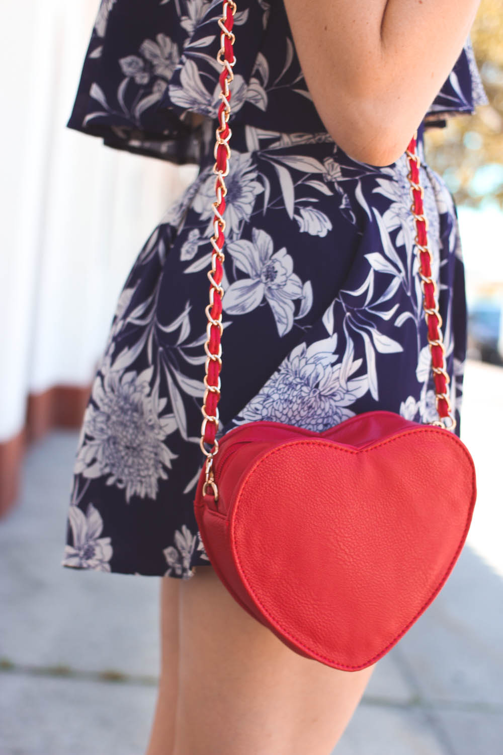 LuLu's floral set, red heart bag, nyc vintage fashion blog, nyc fashion blog, nyc fashion blogger, long beach ny