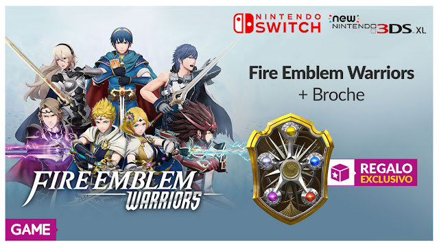 Consigue este broche de Fire Emblem Warriors de regalo en GAME
