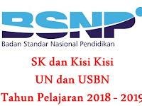 SK Dan Kisi-kisi UN dan USBN Tahun Pelajaran 2018/2019