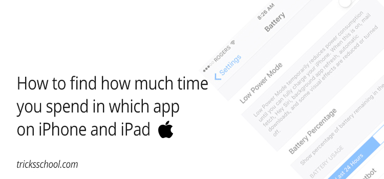 How to find how much time you spend in which app on iPhone and iPad