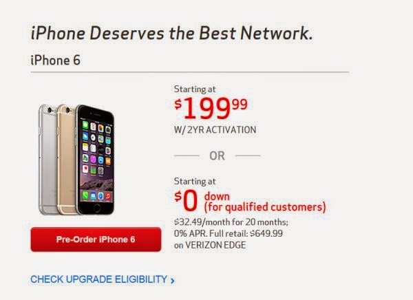 verizon iphone upgrade verizon offers early iphone 6 upgrade program to u s 13236