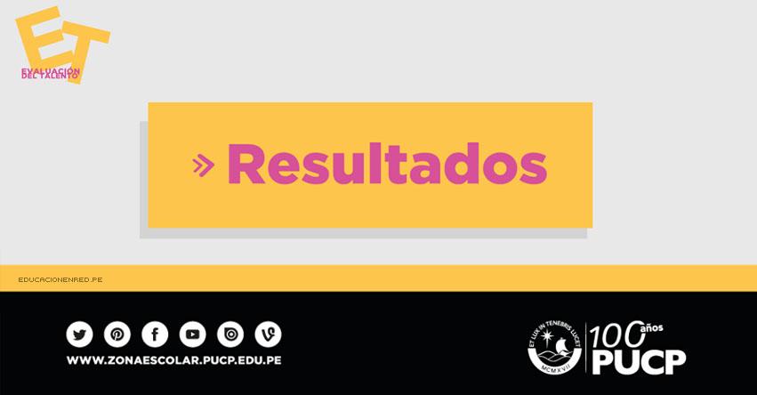 RESULTADOS Ceprepuc Pre de la Católica 2017 (12 Febrero) Admisión Evaluación del Talento - Zona Escolar PUCP - www.pucp.edu.pe