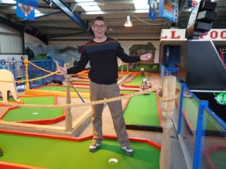 Brean's indoor Crazy Golf at the Leisure Dome Amusement Arcade