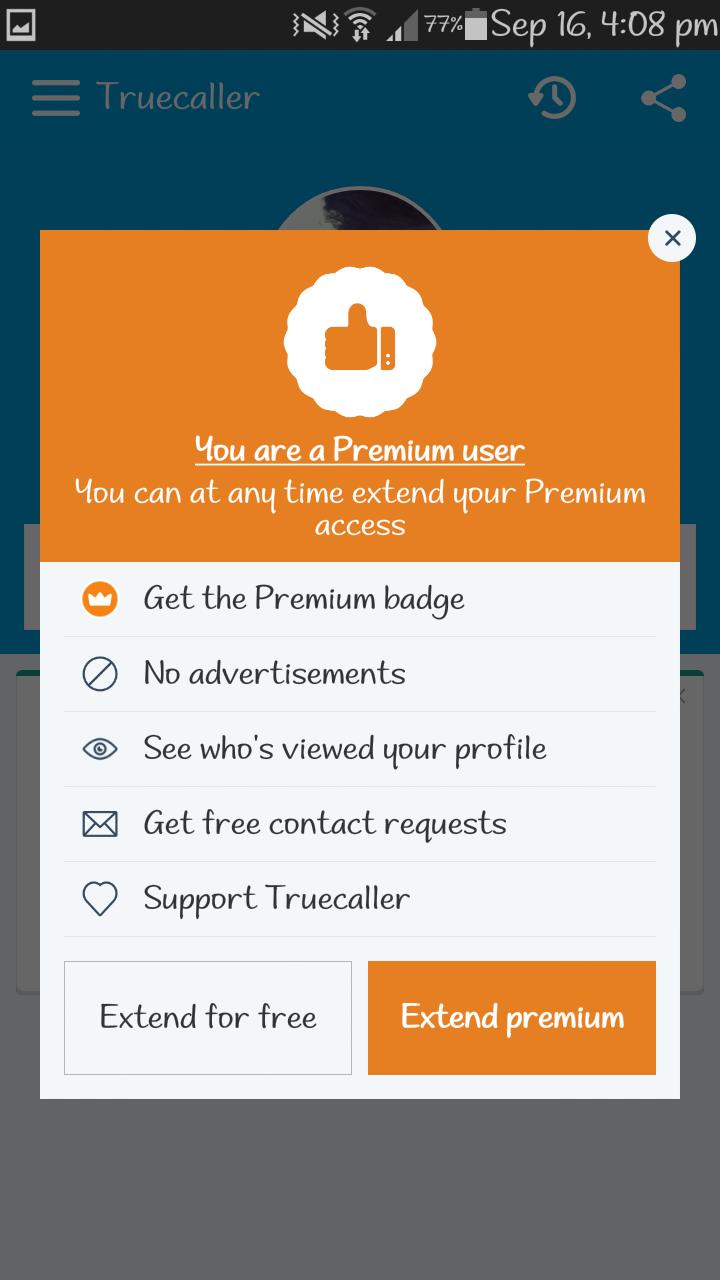 truecaller free premium
