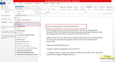 Microsoft Word Dengan Mudah - Cinta Networking
