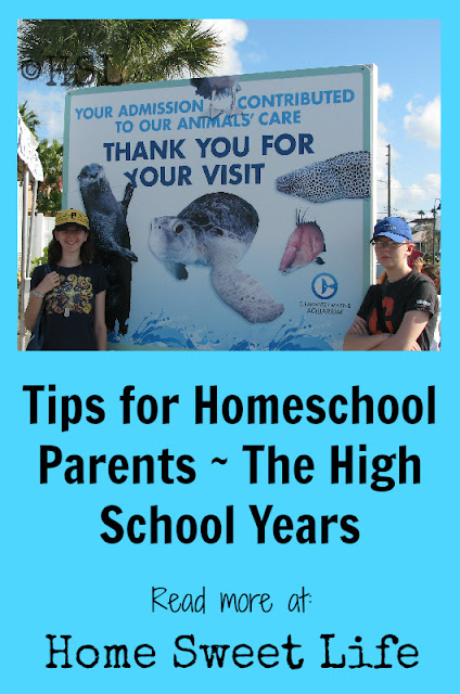 Tips for Homeschool Parents, High School, Homeschooling