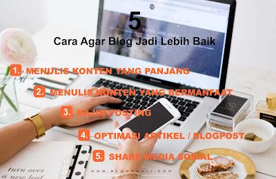 Bingung Blog Begitu – Begitu Saja? Coba Lakukan 5 Cara ini Agar Blog Jadi Lebih Baik