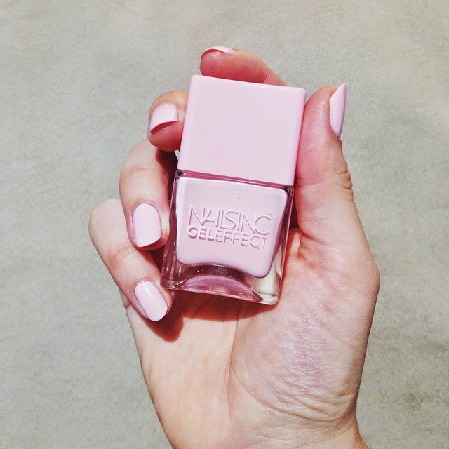 Nails Inc Gel Effect Chiltern Street pale pink nail varnish - beauty blog