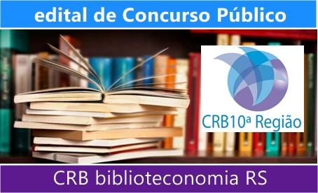 concurso CRB biblioteconomia RS 2017-2018
