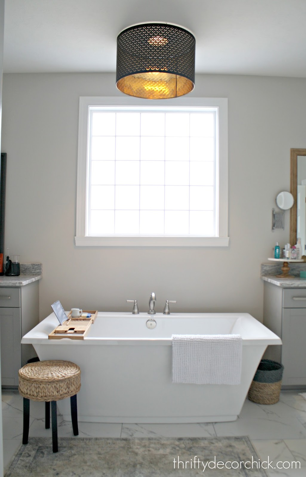 Safely hanging a light over a tub
